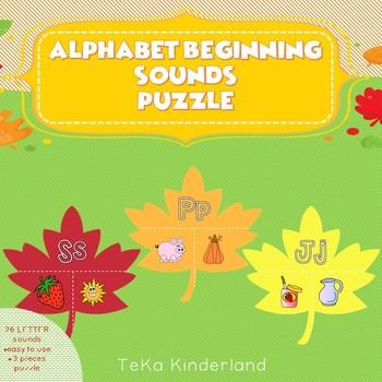Beginning Sounds Puzzle for Pre-K and Kindergarten {TeKa Kinderland}