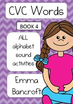 CVC Activity Booklet with all alphabet sounds. Book 4