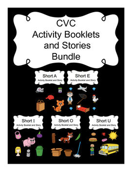 CVC Activity Booklets and Stories Bundle