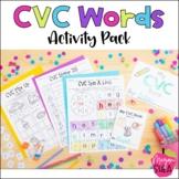 CVC Activity Pack for Kindergarten