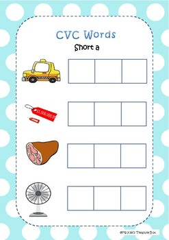 CVC Short a Words Activities