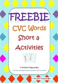CVC Short a Words Activities