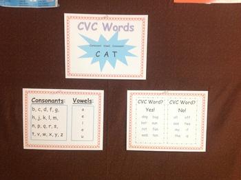Cvc Anchor Chart By Sassy Sped Teacher Teachers Pay Teachers