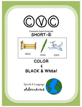 CVC Articulation [Short E] Color & Black&White!