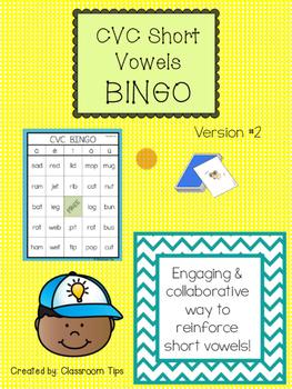 CVC BINGO (Color & BW) -- VERSION 2