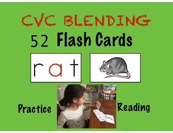 CVC BLENDING FLASH CARDS- Teach Reading