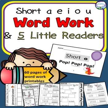 CVC Spelling Word Work BUNDLE with Books