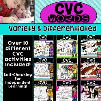 CVC Short Vowel Sound BUNDLE