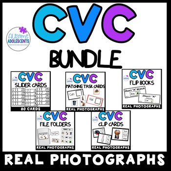 CVC BUNDLE (sped/autism/elementary)- REAL PHOTOGRAPHS