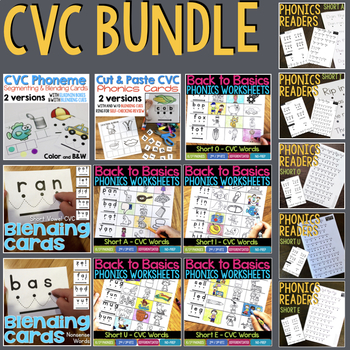 CVC BUNDLE - Resources to Teach Reading by Phonics Patterns