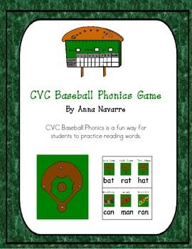 CVC Baseball Phonics Game
