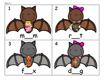 CVC Bats - Beginning, Middle, and Ending Sounds