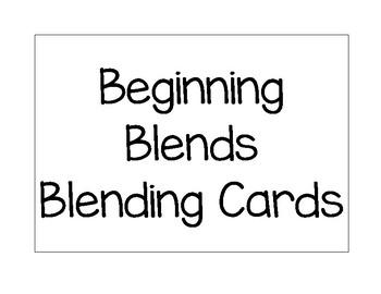 Beginning Blends Blending Cards