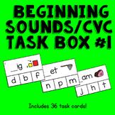 CVC / Beginning Sounds Clothespin Activity --Print, Lamina