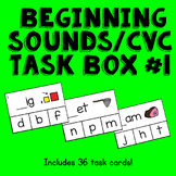 CVC / Beginning Sounds Clothespin Activity --Print, Lamina