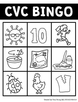 NEW! CVC Bingo Boards & Activities