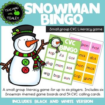 CVC Bingo Game for Christmas