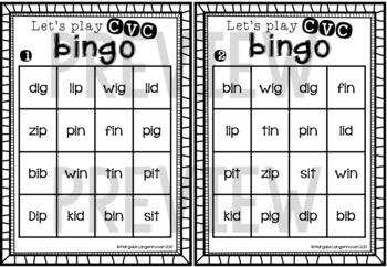 CVC Bingo (Short I)