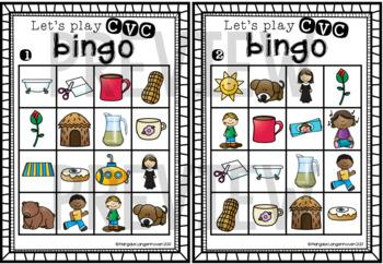 CVC Bingo (Short U)