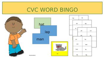 CVC Bingo - Three Levels