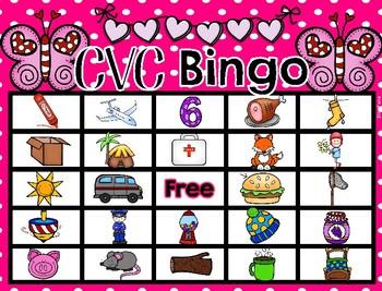 CVC Bingo Valentines Day Theme