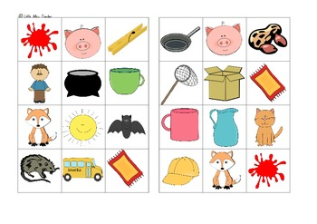CVC Picture Bingo - Whole Class Set