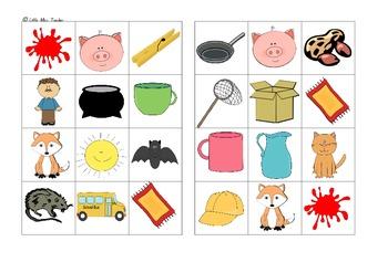 CVC Picture Bingo - Whole Class Set