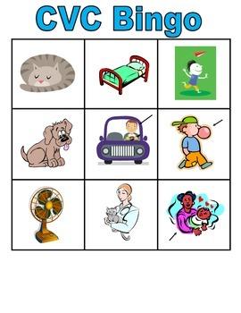 CVC Bingo (picture and words)