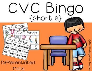 CVC Bingo {short e}