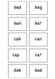 CVC Black and White Word Cards