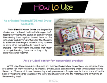 CVC Blend & Match Phonics Cards with REAL Photos {Guided Reading Word Work}