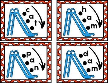 Beginning CVC Words Blending Slides Activity