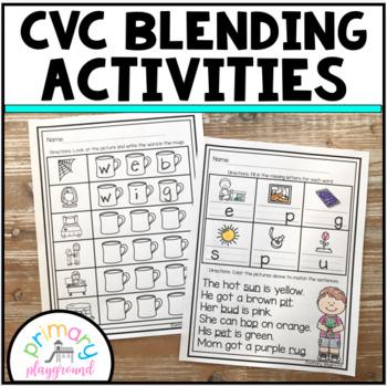 CVC Blending Activities Spiral Review