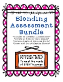 CVC Blending Assessment Bundle, 12 Differentiated Tests, Word Lists, Phonics
