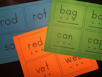 CVC Blending Cards - 85 Words with and without pictures