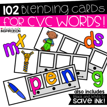 CVC Blending Cards by Education and Inspiration