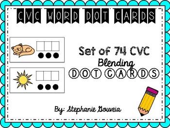 CVC Blending Dot Cards