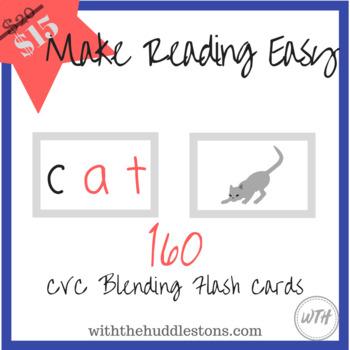 CVC Blending Flash Cards - Make Reading Easy
