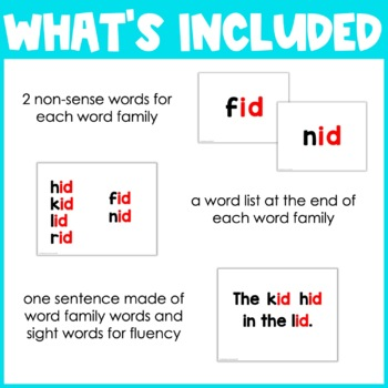 CVC Blending Powerpoint - Short I Word Families