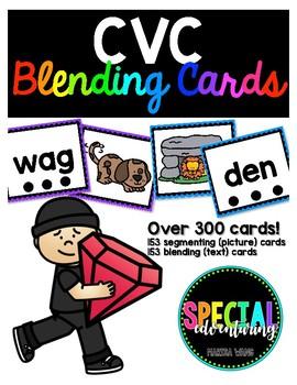 CVC Blending & Segmenting Cards