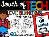 CVC Blending Task Cards with QR Codes for Self-Correcting