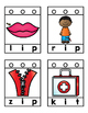 CVC Blending Word Card: Lacing Activity
