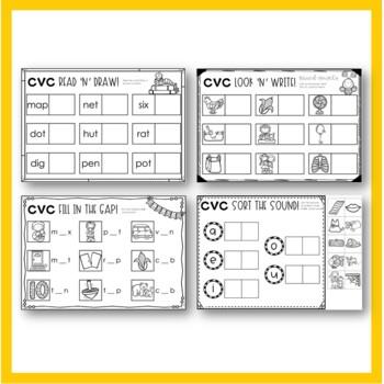 CVC Blending and Segmenting Worksheets