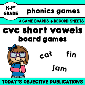 CVC Board Game (Nonsense Words Center)