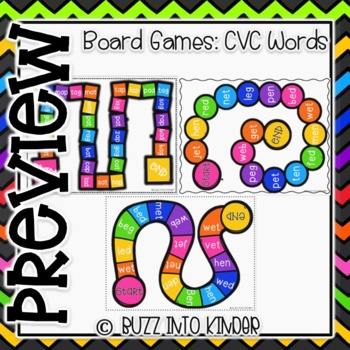 CVC Board Games for Phonics