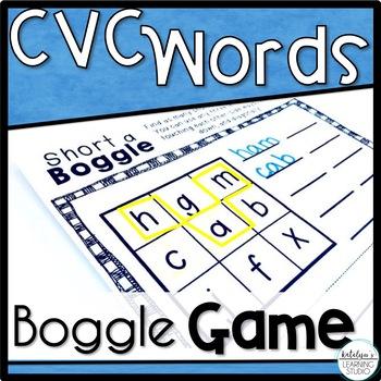CVC Short Vowel Boggle Game