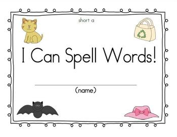 CVC Book Spelling words with short a