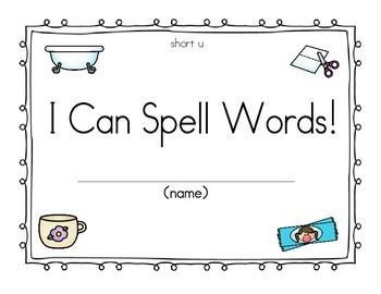 CVC Book Spelling words with short u