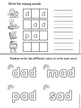 CVC Activites Word Booklets
