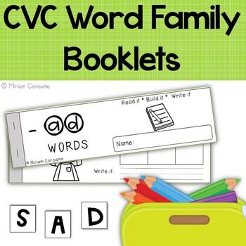 CVC Booklets - Read it, Build it, Write it